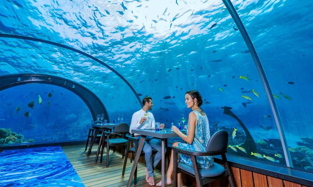 Vízalatti éttermek a Maldív szigeteken